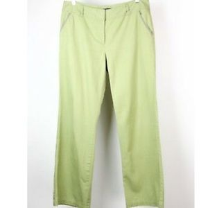 Boden Green Pen Mark Chino Long Trouser Pants